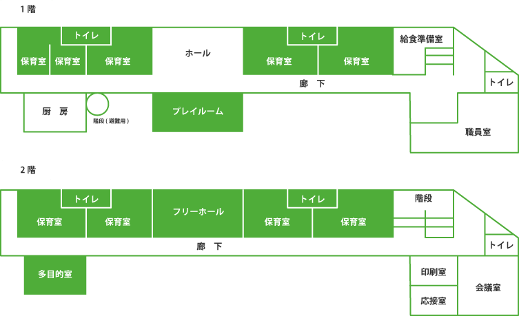 会津若葉幼稚園の見取り図